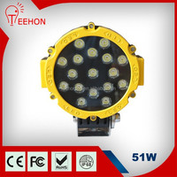 Hot sale 51W LED DRIVING WORK LIGHTS FLOOD SPOT OFFROAD UTE DC12V REPLACE HID