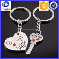 Promotional Gift l Love You Heart And Key Shaped Keychain