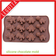 2015 safety quality top popular 3d food grade custom animal shape mold for import