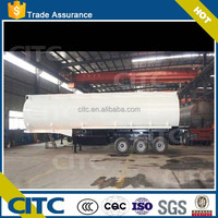 high quality 3 axles 30CBM fuel tanker trailer/tractor trailer price/Automatic submerged arc welded