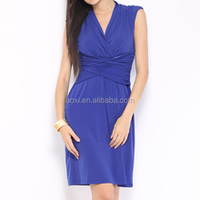 wholesale china factory latest design sleeveless chiffon blue models casual dresses for girls