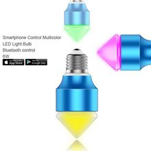 wifi remote switch,dimmable e27 rgb led bulbs 5w with rgb mixed color changing control by SmartPhone