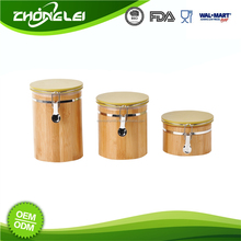 OEM Production Top Quality FDA/LFGB/REACH Bamboo Canister