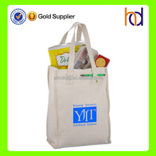 2015 new promotional eco freidly market recycled cotton tote bag
