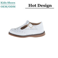 China manufacturer made classical design white kids leather shoes &good quality school shoes for kids