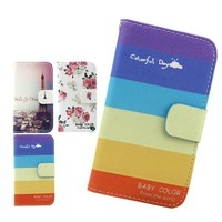 for zte open 2 flip pu cover case,colorful wallet flip phone cover for zte open 2