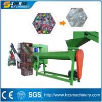 China supplier pet bottle crushing washing drying recycling line manufacture