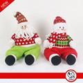 Animated craft decoración para la navidad con grasa sentado santa claus