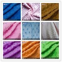 Polyester Super Soft Cuddle Minky fabric Minkee Dot Fabric