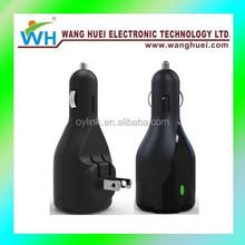 Dual ports 5V 3.1A car charger with EU/US/UK plug