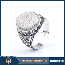 factory wholesale 925 silver indian ring plated white gold