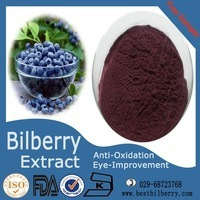 health products 5-35% anthocyanins blueberry extract supplier