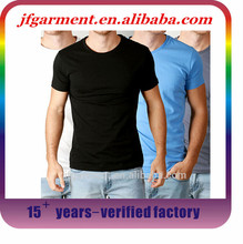 wholesale blank t shirt in alibaba,2015 hot sell 95 cotton 5 spandex t shirt muscle mens tight fit t shirt