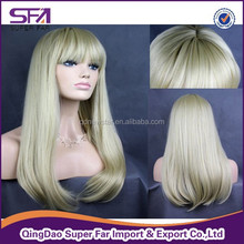 synthetic wigs cheap synthetic hair wigs from Qingdao synthetic wig manufacturer