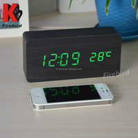 Hot sale two modes display green LED fashion clock for valentine's day gift