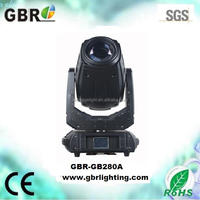 280w 10r beam spot wash 3 in 1 moving head light with flycase