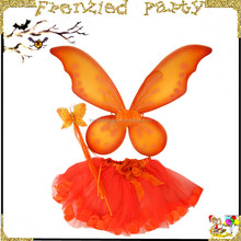 Adorable girl 3 pc soft tutu skirt wand size butterfly wings