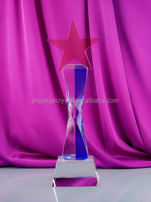 crystal star trophy for event souvenir gift