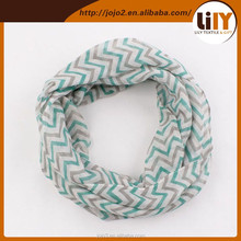 2015 hot selling children seamless tube scarf woven printing scarf stripe infinity scarf