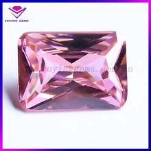 China Cubic AAA Zircon Manufacturer Personalized Pink CZ Stones Princess Cut
