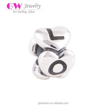 Antique Silver Beads European Style Beads Fit The Original Brand Beads Bracelet 925 Sterling Silver Love Charms