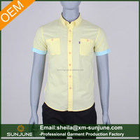 Latest design contrast cuff stylish party wear shirts for men