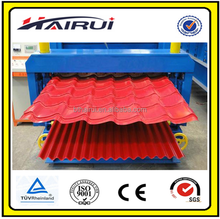 Double decking corrugated iron roofing sheet roll forming making machine made in China