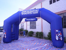 New design blue advertising inflatable sport arch