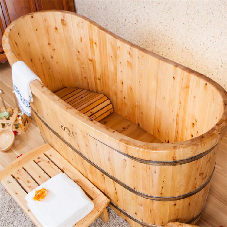 qualit en bois troite baignoire japonais baignoire de. Black Bedroom Furniture Sets. Home Design Ideas