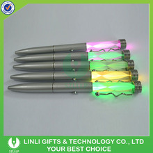 Customised Logo Metal Glow Pen With Led Light