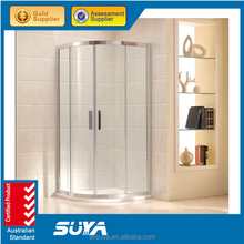 Polished Frame Surface Finishing and Sliding Open Style shower room
