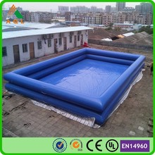 Dark bule bubble inflatable pool,custom inflatable pool toys,inflatale square swimming pool