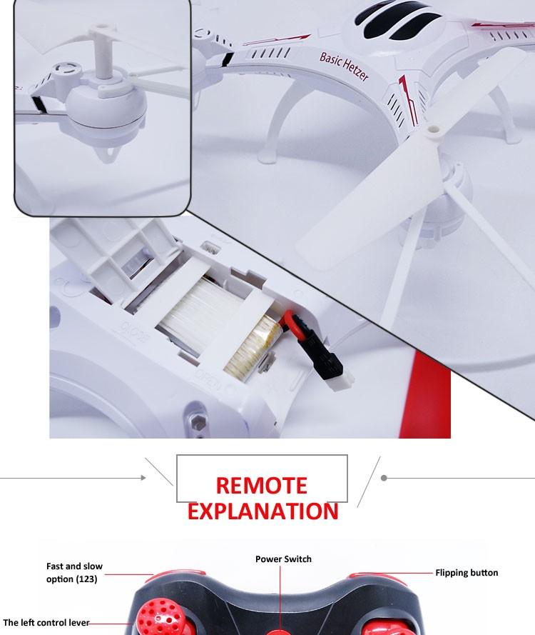 Alta qualidade 4 Canais Quadcopter Drone com HD Camera
