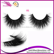 Top quality luxury hand made 3d volume synthetic strip eyelash, silk false eyelashes ,private label wholesale