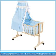 solid wood newborns cradle rocking swinging bassinet