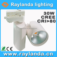 New 2016 aesthetic COB 30W 220V LED dimmable track light