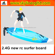 2015 NEW 2.4G rc surfer with figure , remote control rc surfer summer toys for sale