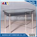 base de acero inoxidable mesa de comedor