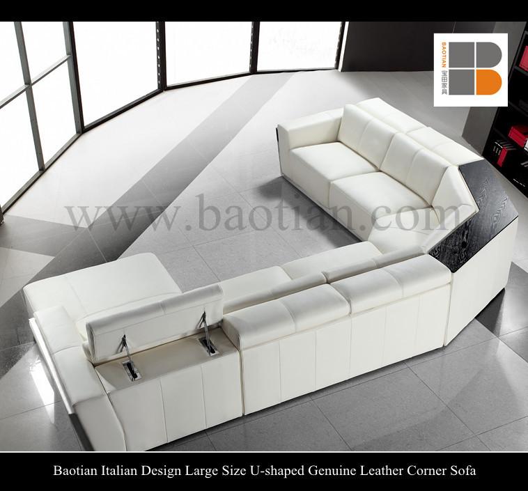 Baotian design italien grande taille en forme de u en cuir - Grande marque de canape ...
