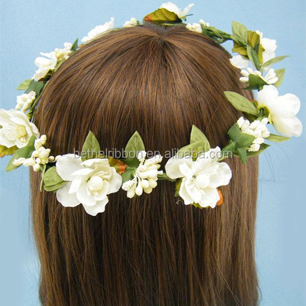 Head Wreath Name Wedding Head Wreath White