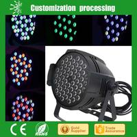 Hot Selling led light par 3w*54 rotating stage light with CE certificate