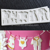 baby clothes cake decorating silicone mold for party supplies