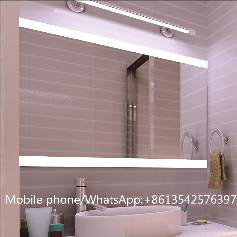 led iluminado espejo sin marco para hotel de lujo