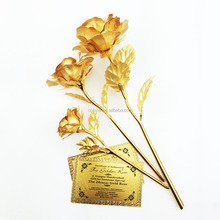 Wholesale gift items gold foil rose valentine day gifts 24k gold rose