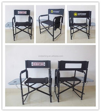 Outdoor manicure pedicure furniture, folding director chair for camping with table and bag
