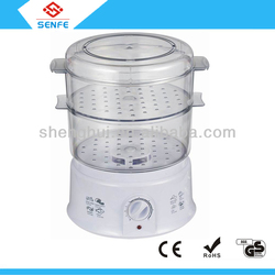 Home electric 2 layer plastic food steamer/warmer