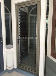 Aluminium Framed Glass Louver Door Glazed Louvers Casement Door