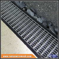 Hot dip sidewalk grates road drainage steel grating galvanized outdoor drain cover