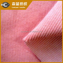 cotton knitted sueded french rib fabric for clothing