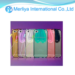 Rabbit ear Transparent tpu case for iphone 6/6plus